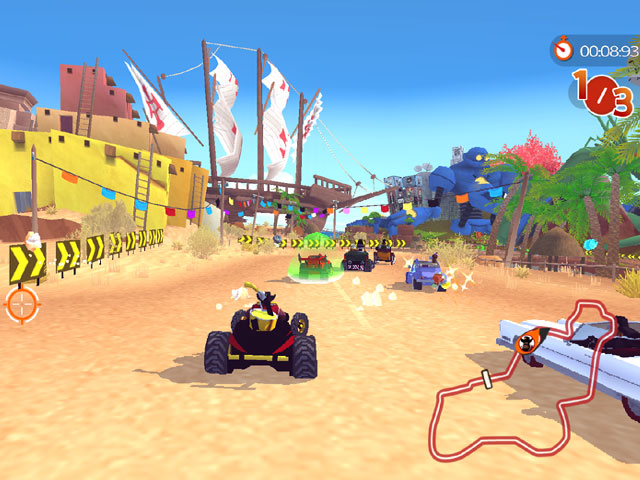 Game balapan mobil liar Racers Island