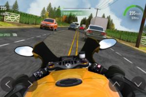 download game balapan motor jalanan liar traffic race malam hari