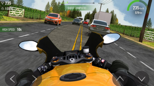 download game balapan motor jalanan liar traffic race malam hari